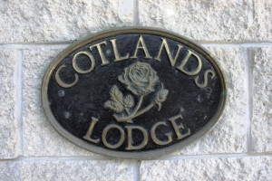 Cotlands Lodge plaque